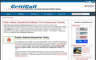 CritiCall 911 Dispatcher Testing Software