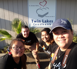 BCG's QC Team in front of the Twin Lakes Foodbank